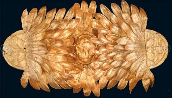 金橄榄叶头饰