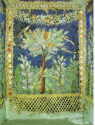 宁芙神庙中的马赛克壁画