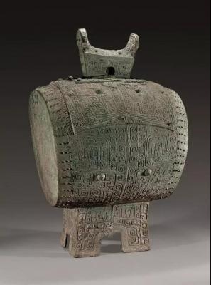 兽面纹铜鼓 商代晚期