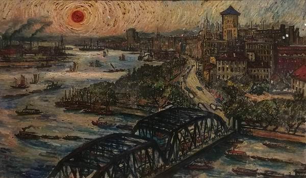 刘海粟《外滩风光》油画 1964年