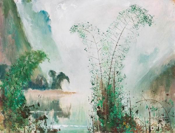 苏天赐《漓江春色》油彩 画布 1994年