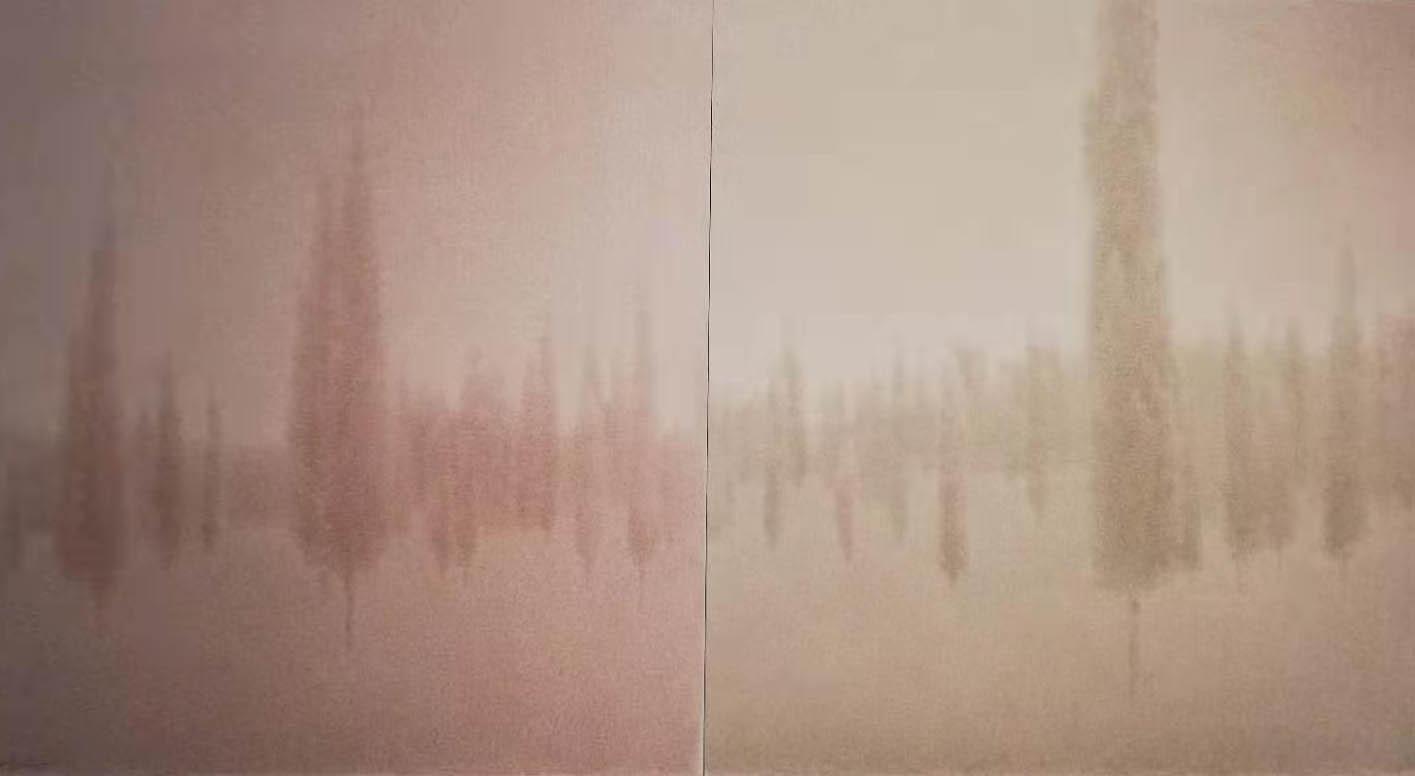 《素林》 单维军  纸本水墨  170×90cm
