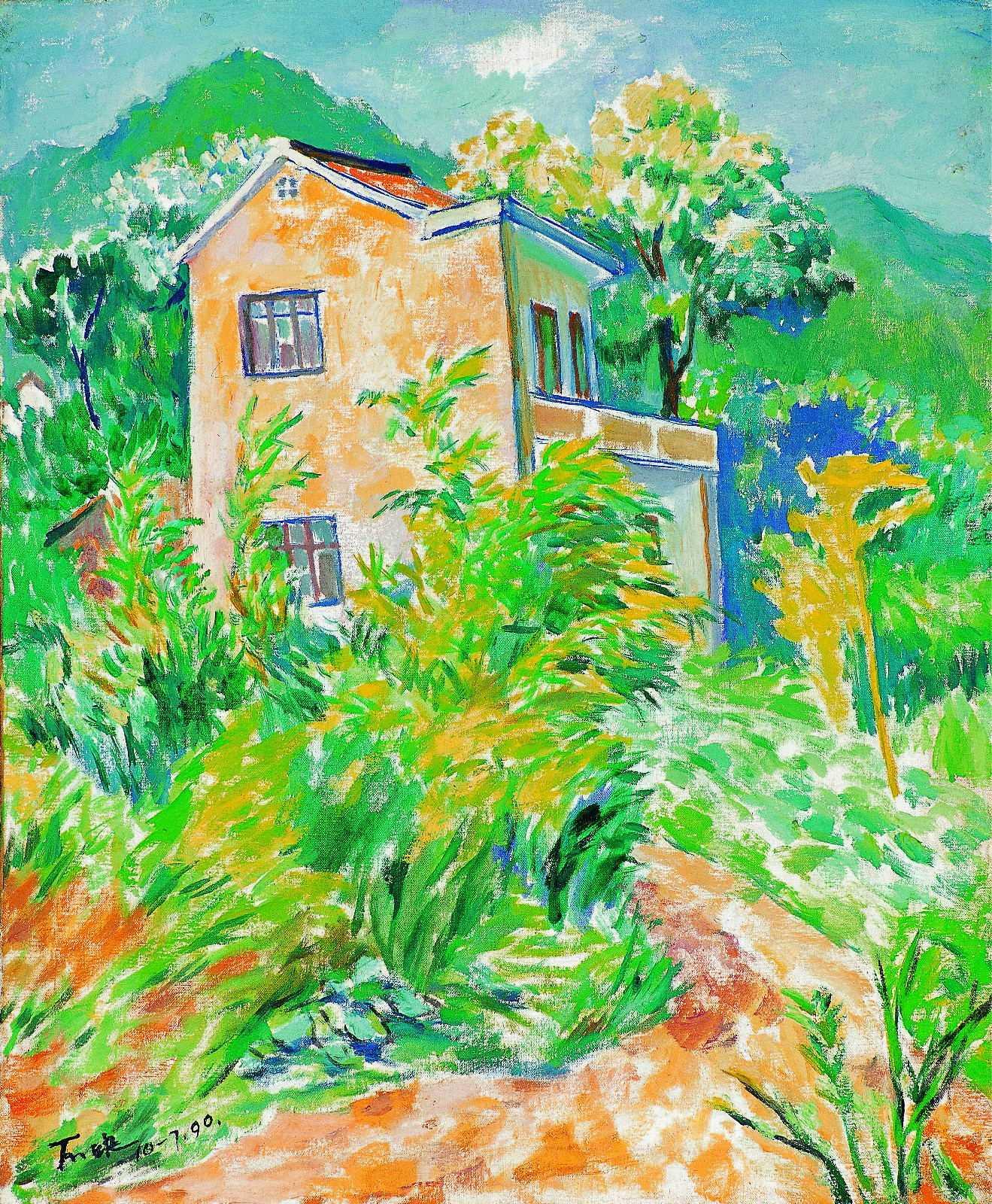 丁天缺《风》布面油画  61x40cm 1990年