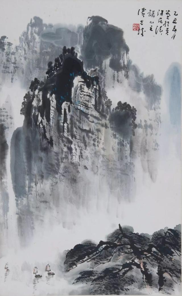 孟光涛山水图立幅