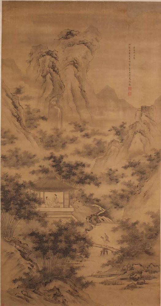 明 史颜节 《溪亭清话图》  山东博物馆藏