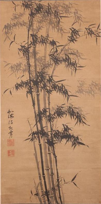 明 冯起震 《风竹图轴》 山东博物馆藏