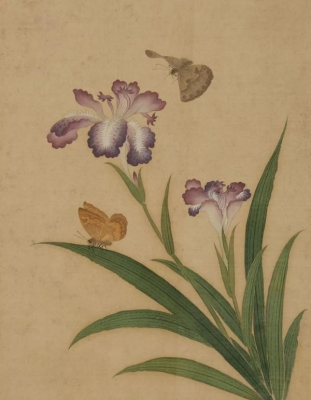 清 恽冰《四季虫卉图册》 (局部)