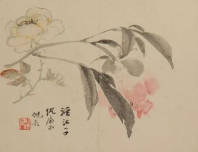 清 倪耘 《花卉册》(局部)