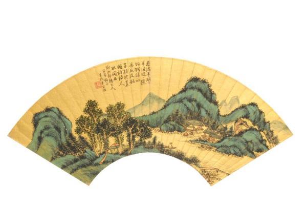 清袁宝铄《山水扇页》