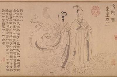 元 张渥《临李公麟九歌图》(局部)