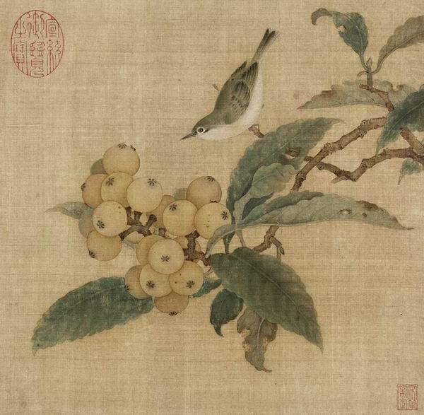 南宋 林椿 《枇杷山鸟图页》