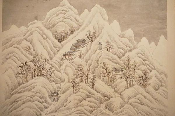 《燕山八景图》清代张若澄