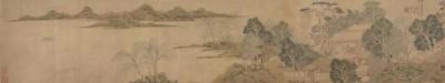 清 钱杜 石湖隐居图