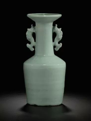 南宋 龙泉窑青瓷双耳瓶