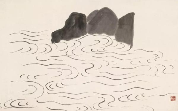 《借山图之十三·华岳三峰》