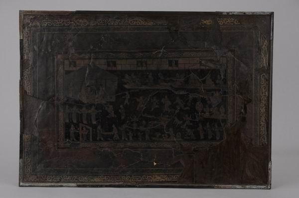 三国·吴 朱然墓出土 宫闱夜宴图漆案