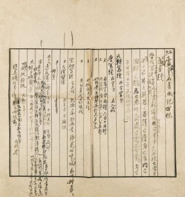 黄宾虹《虹庐金石书画记》手稿
