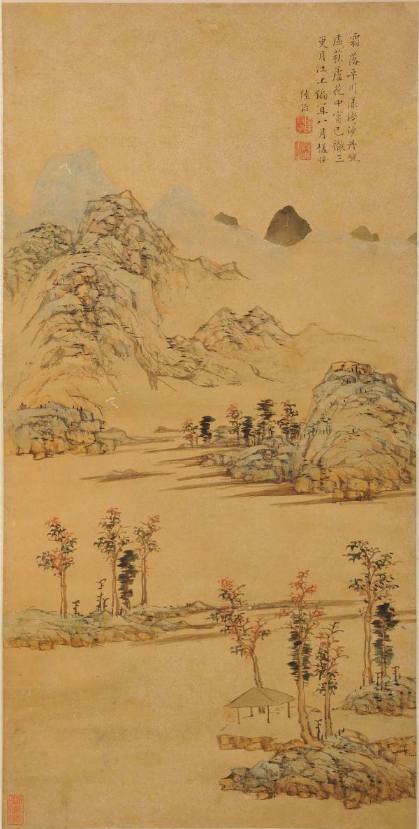 陆治霜《落平川图轴》