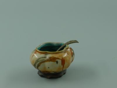 木纹釉 海棠形水盂