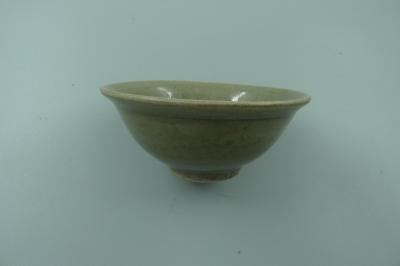 耀州窑青釉印花盏