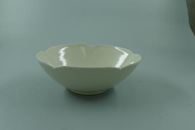 定窑白釉花口碗