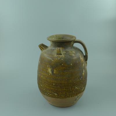 宣州窑青釉短流壶