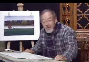 大师柳新生画水彩画 --静静的湖岸