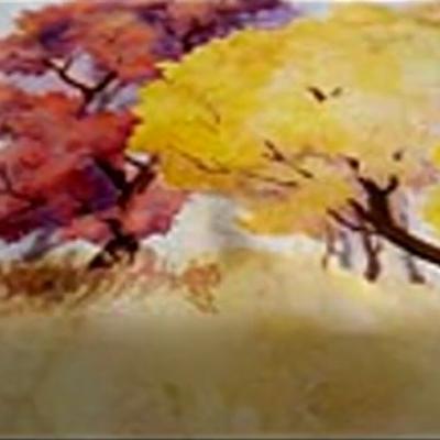 水彩画树枝技法