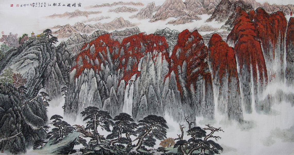霜积秋山万树红