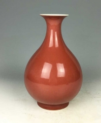 红釉玉壶春瓶