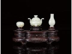 白玉雕炉瓶盒三式