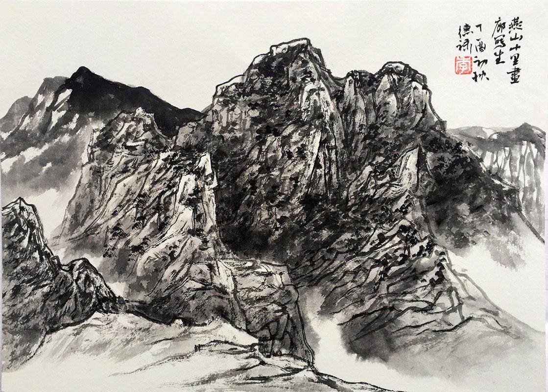 燕山大峡谷写生一