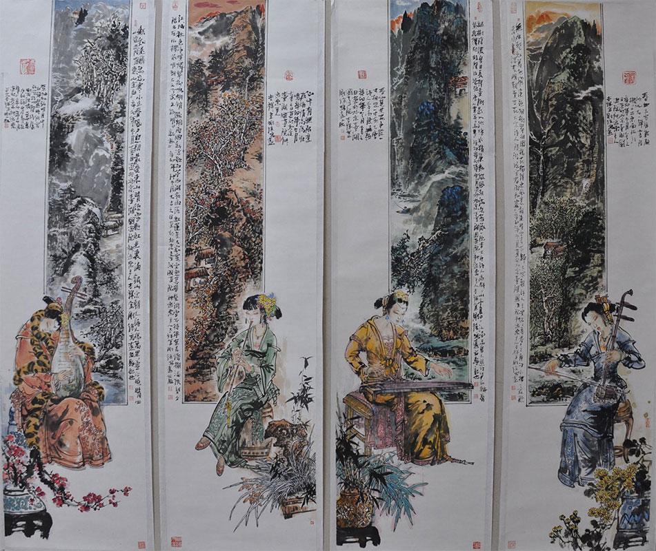 画中画《四季清韵》