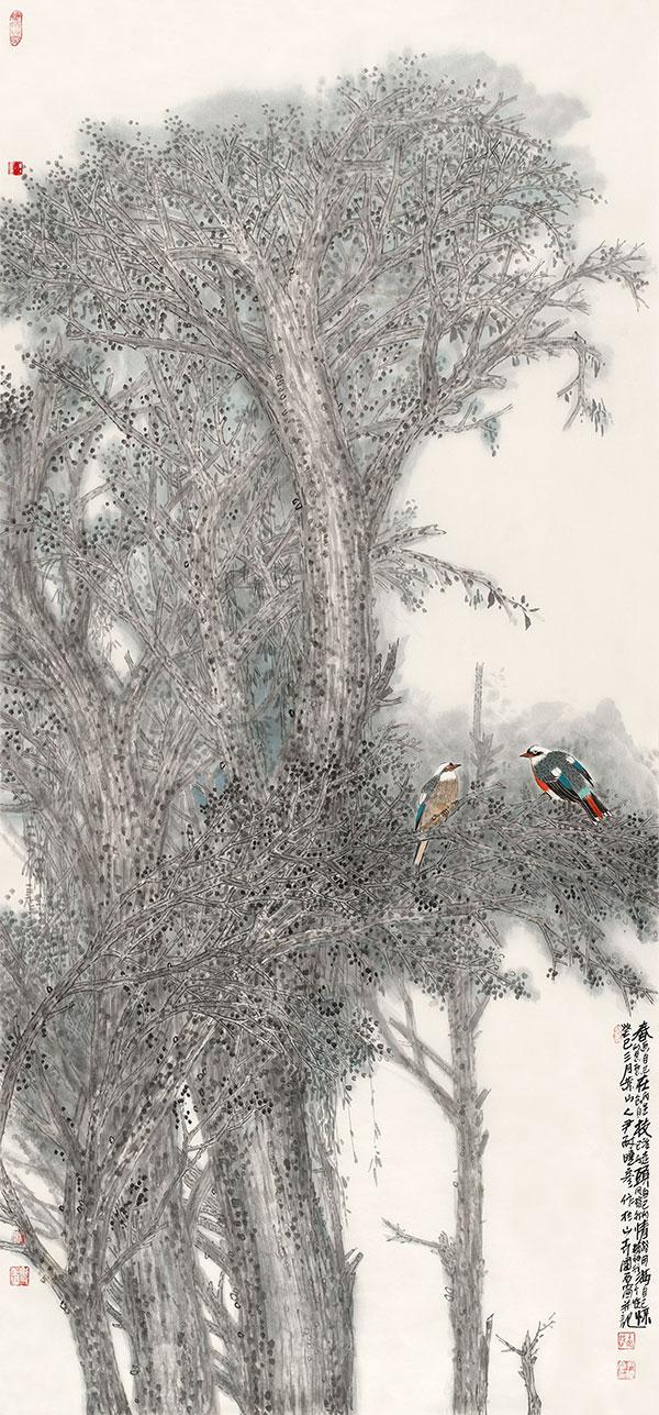 槐树林系列:春在枝头情满怀