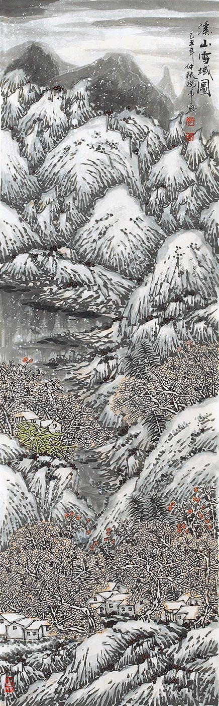 溪山雪域图