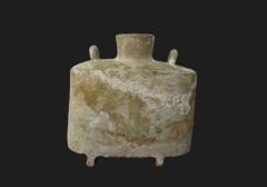 汉绿釉扁壶