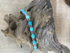 铂金绿松石手链