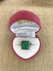 绿松石纯银戒指2