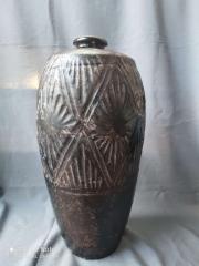 北宋耀州窑黑釉菱形纹梅瓶标本