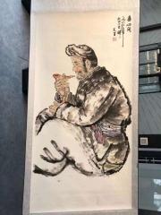 刘文西书画《陕北老汉》